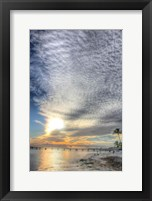 Framed Key West Pier Sunset Vertical