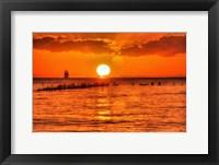 Framed Old Pier Sunset Horizontal