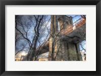 Framed Brooklyn Bridge Early Spring