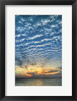 Framed Key West Blue Sunset Vertical