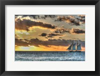 Framed Key West Clipper Sunset I