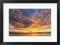 Framed Key West Hobie Sunset