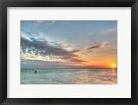 Framed Key West Paddleboard Sunset