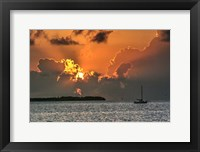 Framed Key West Sunrise IV