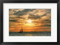 Framed Key West Sunset II