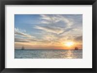 Framed Key West Sunset III