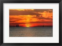 Framed Key West Sunset XVI
