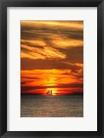 Framed Key West Sunset Vertical II