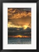 Framed Key West Vertical with Schooner