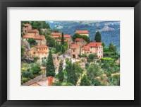 Framed Tuscan Hilltop Town