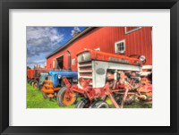 Framed Tractors and Barn