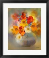 Framed Bouquet Nasturtiums