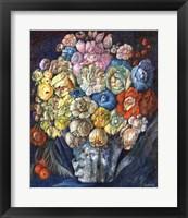 Framed Flowers In Blue