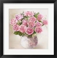 Framed Vase with Roses