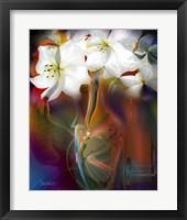Framed White Flowers