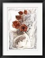 Framed White Vase