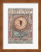Framed Sunflower with Heart