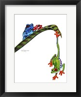 Framed Frogs Hanging Out