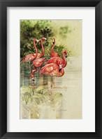 Framed Flamingo Paper