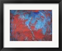 Framed Red on Blue