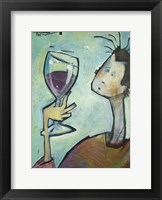 Framed Man Swirls Wine