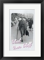 Framed Woman Walking