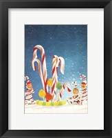 Framed Holiday Candy Canes