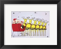 Framed Holiday Reindeer