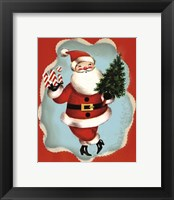 Framed Holiday Santa