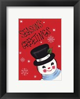 Framed Holiday Sg Snowman