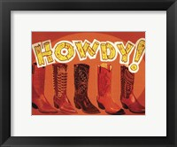 Framed Howdy Boots