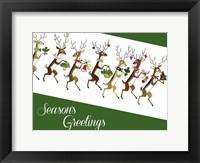 Framed Line Of Reindeer