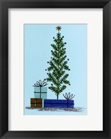 Framed Xmas Tree And Gifts
