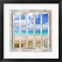 Framed Caribbean Cottage