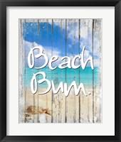 Framed Beach Bum