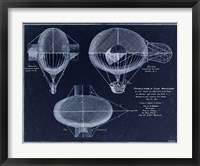 Framed French Airship Balloon 1784