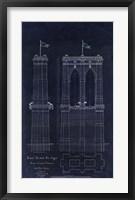 Framed Brooklyn Bridge 1867
