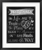 Framed Best Things Chalkboard