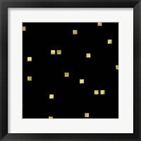 Framed Black Golden Squares Confetti