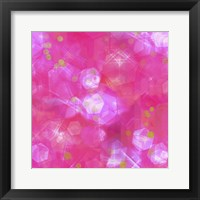 Framed Glitter Love Pink Pattern