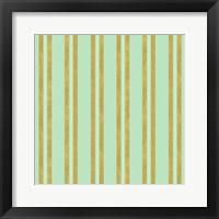 Framed Golden Mint Stripes 2