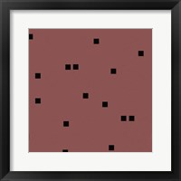 Framed Marsala Black Squares Confetti