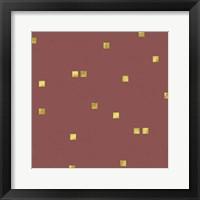 Framed Marsala Golden Squares Confetti