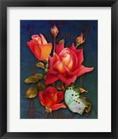 Framed Vintage Roses