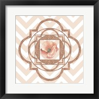 Framed Persian Rose Gold Quatrefoil