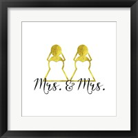 Framed Wedding Couple - Mrs. Mrs.