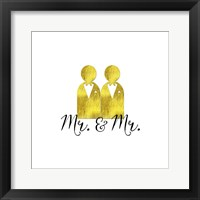 Framed Wedding Couple Mr Mr
