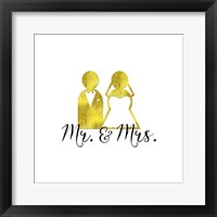 Framed Wedding Couple Mr Mrs