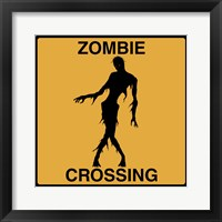 Framed Zombie Crossing