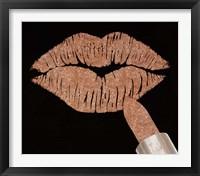 Framed Rosegold Kiss